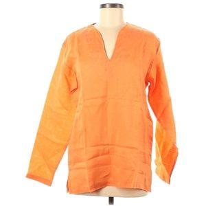 Pazzo 100% Linen Vibrant Orange Top